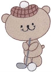 Cute Golfing Bear embroidery design