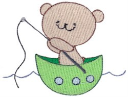 Fishing Teddy Bear embroidery design