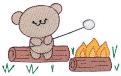 Camping Teddy Bear embroidery design