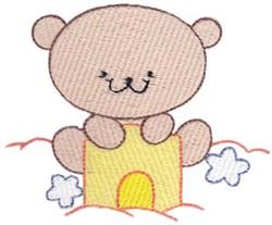 Beach Bear & Sand Castle embroidery design