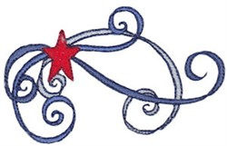 Patriotic Swirls Border embroidery design