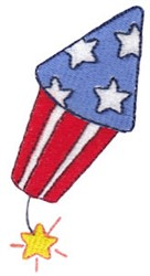 4th Of July Firework embroidery design