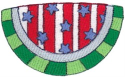 All American Watermelon embroidery design