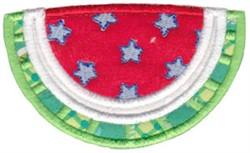 Applique Watermelon Slice embroidery design