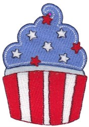 All American Cupcake embroidery design