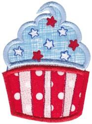All American Cupcake Applique embroidery design