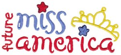 Future Miss America embroidery design
