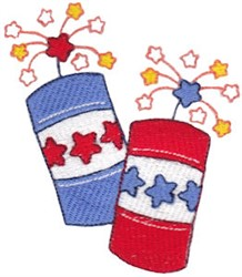 All American Fireworks embroidery design