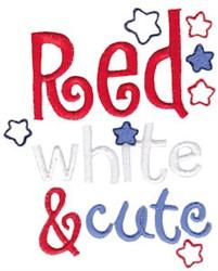 Red, White & Cute embroidery design
