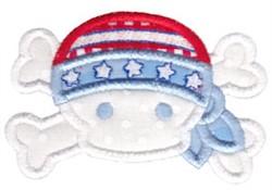 All American Pirate Applique embroidery design