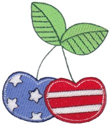 All American Cherries embroidery design