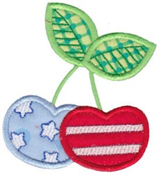 All American Applique Cherries embroidery design