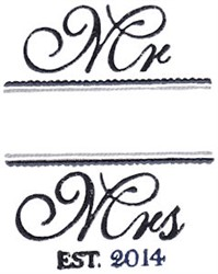Wedding Name Drop 2014 embroidery design