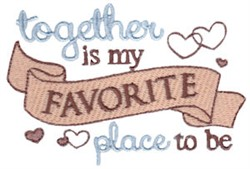 My Favorite Place embroidery design