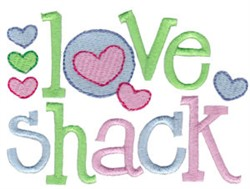 Love Shack embroidery design