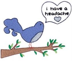 I Have A Headache embroidery design
