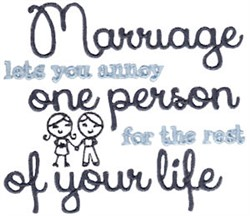 The Rest Of Your Life embroidery design