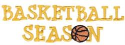 Basketball Season embroidery design
