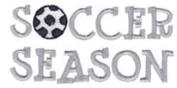 Soccer Season embroidery design