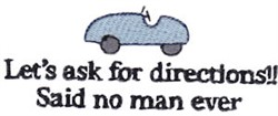 Ask For Directions embroidery design