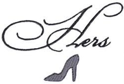 Hers High Heel embroidery design