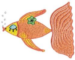 Decorative Gold Fish embroidery design