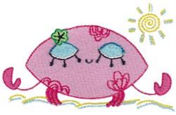 Decorative Sea Crab embroidery design
