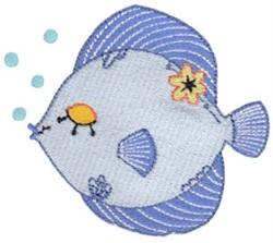 Decorative Kissing Fish embroidery design