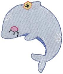 Decorative Dolphin embroidery design