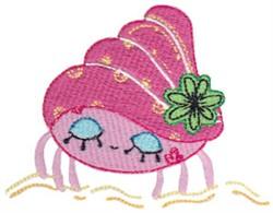Decorative Hermit Crab embroidery design