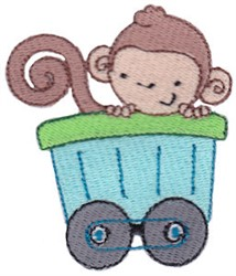 Animal Train & Monkey embroidery design