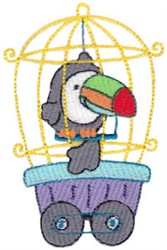 Animal Train & Toucan embroidery design