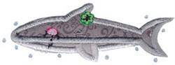 Decorative Sea Creature Applique embroidery design