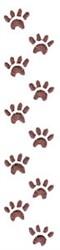 Floppy Dog Paw Prints embroidery design