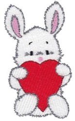 Bunny Heart embroidery design