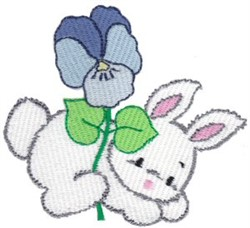 Bunny & Violet embroidery design