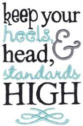Heels Head & Standard High embroidery design