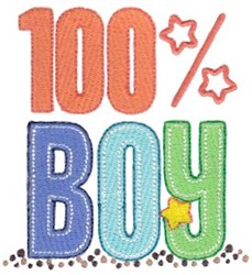 100% Boy embroidery design