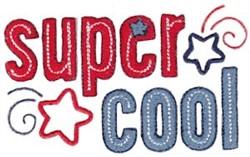 Super Cool embroidery design