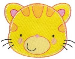 Adorable Tiger Face embroidery design