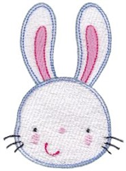 Adorable Rabbit Face embroidery design