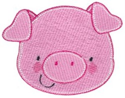 Adorable Pig Face embroidery design