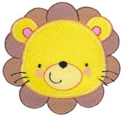 Adorable Lion Face embroidery design