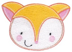 Adorable Fox Face embroidery design
