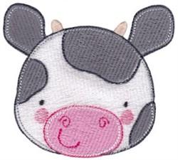 Adorable Cow Face embroidery design