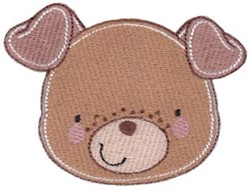 Adorable Puppy Face embroidery design