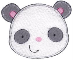 Adorable Panda Face embroidery design