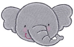 Adorable Elephant Face embroidery design