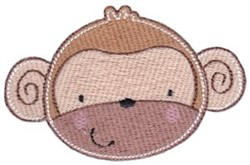 Adorable Monkey Face embroidery design
