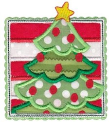 Box Christmas Tree Applique embroidery design